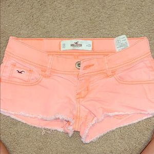 Coral pink Hollister Shorts